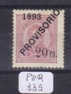 POR Afinsa  95 D. Luis I Surchargé PROVISORIO Papier Porcelana 11 1/2 Xx - Unused Stamps