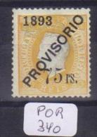 POR Afinsa  97 D. Luis I Surchargé PROVISORIO Papier Porcelana 12 1/2 X - Unused Stamps
