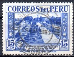 PERU 1936 Paseo De La Republica, Lima -  15c.   - Blue   FU - Peru