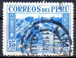 PERU 1936 Paseo De La Republica, Lima -  15c - Turquoise   FU - Peru
