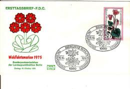 Deutschland-Ersttagbrief,FDC 15.10. 1975, Blumen - BRD