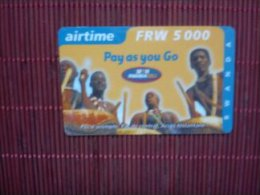 Prepaidcard Rwanda Some Little Traces Of Used Not Perfect - Rwanda