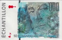 ** BILLET TEST NOTE ECHANTILLON BANQUE DE FRANCE - 50 FRANCS MAURICE RAVEL - TYPE DU 50 FRANCS SAINT EXUPERY ** - Fiktive & Specimen
