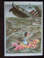"""Caricature De Claude Serre , """" Le Sport , L ´ Automobile , Vice Compris """" , Titanic , Sexe , Naufragés - Illustrateurs & Photographes"""
