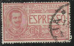 ITALIA REGNO ITALY KINGDOM 1903 ESPRESSI EFFIGIE RE VITTORIO EMANUELE ESPRESSO SPECIAL DELIVERY CENT. 25 USATO USED - 1900-44 Vittorio Emanuele III