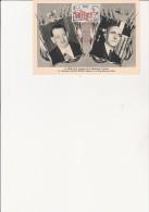 PEROU - CARTE COMMEMORATIVE AFFRANCHIE PA N° 124 - RENE COTY ET DOCTEUR MANUEL PRADO - 1957