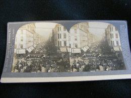 Photo Stéréo - Rue De Londres -- London Road  - 1902 By Singley M1 - Fotos Estereoscópicas