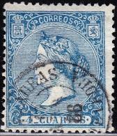 09-019 SPAIN 1866 EDIFIL 81 ISABEL II USADO PUENTEAREAS PONTEVEDRA RRR PRECIOSO SPANIEN ESPAGNE SPANJE - 1850-68 Reino: Isabel II