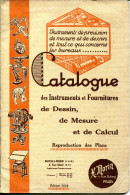 CATALOGUE DES INSTRUMENTS & FOURNITURES DE DESSIN,DE MESURE & DE CALCUL.H.MORIN.PARIS. - Ohne Zuordnung