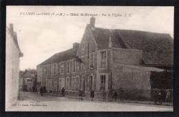 77.SEINE ET MARNE.VILLIERS SOUS GREZ.HOTEL SAINT ETIENNE.RUE DE L'EGLISE. - Other Municipalities