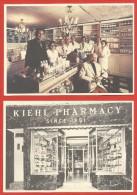 Lot De 4 Cartes Postales Modernes - Kiehl Pharmacy - Kiehl's Parmacy - Publicidad