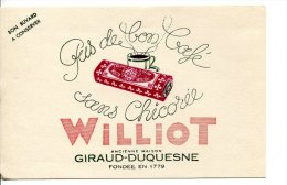 Chicorée WILLIOT  - Pas De Bon Café Sans Chicorée - Buvards, Protège-cahiers Illustrés