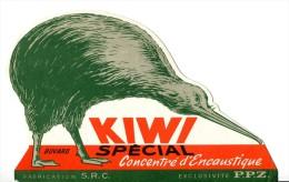 Entrtien - KIWI  -encaustique  _ Découpé Au Profil Du Kiwi - Carte Assorbenti