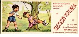 Saucisson PROVENCIA - Illustr. Enfants Jouant à La Balançoire - Alimentare
