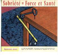 Sobriété = Force Et Santé - Amusons-nous - Carte Assorbenti