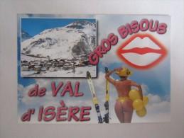 73 SAVOIE VAL D'ISÈRE La Descente De Bellevarde Pin Up Femme Sexy Pin Ups Gros Bisous - Val D'Isere