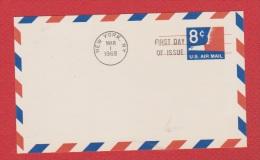 USA  --  Entier Postal ---  New York 1 Mar 1968 - 1961-80