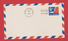 USA  --  Entier Postal ---  New York 1 Mar 1968