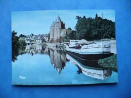 Cpm.b - Josselin (56) - Vue Sur Le Chateau - Péniche - éditions Combier - Other Municipalities