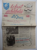 """Journal """"le Front Des Barbelés"""" Découverte Du Congrès D'avril 1945 Par P. Kolodkine """"La Fête Du Retour"""". - Revues & Journaux"""