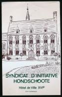 AUTOCOLLANT, STICKERS : SYNDICAT D'INITIATIVE, Hôtel De Ville, Hondschoote (59, Nord) - Stickers