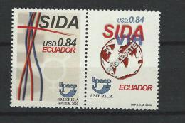 EC - 2001 - 2546-2547 - SIDA -AIDS PAAR -PAIR  - MNH -POSTFRISCH -** - Equateur