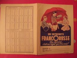 Protège-cahier Entremets Francorusse. Vers 1950. - Buvards, Protège-cahiers Illustrés