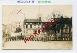 BUZANCY-Appel Des Troupes-CARTE PHOTO Allemande-Guerre14-18-1 WK-Militaria-France-08-Feldpost- - France