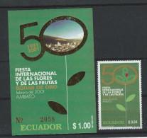 EC - 2000 - 2511 - BLUMEN  -BLOCK 160  - MNH -POSTFRISCH -** - Equateur