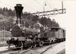 Dampflok - Spanisch-Brötlibahn, Max 40 Kmh, Ca. 90 PS, Fotokarte - Eisenbahnen