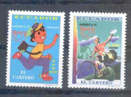 EC - 1997 -2378-2379 - DER POSTBOTE - CARTERO -UPAEP - MNH -POSTFRISCH -** - Equateur
