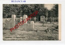 BUZANCY-Cimetiere Militaire-CARTE IMPRIMEE Allemande-Guerre14-18-1 WK-Militaria-France-08-Feldpost- - Non Classés