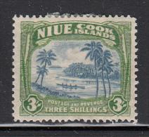Niue MH Scott #75 SG #77 3sh Coastal Scene With Canoe Watermark NZ, Star - Niue