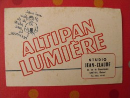 Buvard Pellicule Photo Altipan Lumière. Studio Jean-Claude. Créteil. Vers 1950. - Buvards, Protège-cahiers Illustrés