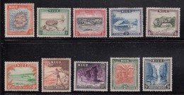 Niue MH Scott #94-#103 SG #113-#122 Set Of 10 Scenics - Map, Ship, Cave - Niue
