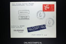 Terres Australes Et Antarctique Françaises 1962 1ere Liaison Directe France- Terres-Australes 19-1-1962 - Terres Australes Et Antarctiques Françaises (TAAF)