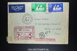 St Pierre Et Miquelon - Enveloppe  R Lettre 1ere Liaison Postale Aerienne A France Neuilly Sur Seine 31-8-1948 - St.Pierre & Miquelon