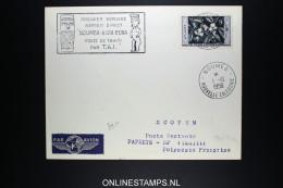 Nouvelle Caledonie  1er  Service Aérienne Direct  Noumea - Bora Bora Route De Tahiti Par TAI 1958 - Neukaledonien