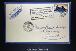 Nouvelle Caledonie  Premier Voyage Réguilier Nouméa - Paris Via Air France Le 30-09-1948 - Neukaledonien