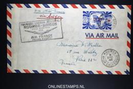 Nouvelle Caledonie 1er Vol NOUMEA SAIGON Via SYDNEY Par AIR FRANCE 8 Dec 1948 - Neukaledonien