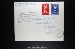 Polynesie 1er Liaison Aerienne Directe FrancePolynesie Par TAI 28-9-1958 - Polynésie Française