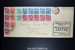Wallis Et Futuna 1er Liaison Aerienne  Francaise  Wallis Et Futuna A Nouvelle Caledonie Trapas 20-8-1947 - Covers & Documents