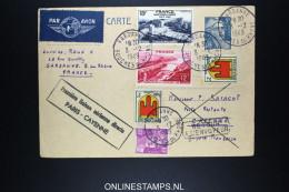 CAYENNE AVEC CACHET PREMIERE LIAISON AERIENNE DIRECTE PARIS / CAYENNE 3-12-1949 - Guyane Française (1886-1949)
