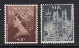 Niue MH Scott #104-#105 SG #123-#124 Set Of 2 Coronation Of Elizabeth II - Niue