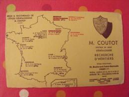 Buvard Coutot. Généalogie. Recherche D'héritiers. Vers 1950. - C