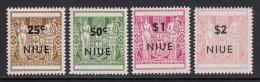 Niue MNH Scott #116-#119 SG #135-#138 Set Of 4 NIUE Overprint On NZ Coat Of Arms - Niue