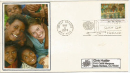 ENFANTS Du MONDE,   Lettre FDC De New-York (UN) , Adressée En Californie - Lettres & Documents