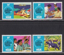 Niue MH Scott #151-#154 SG #170-#173 Set Of 4 South Pacific Commission, 25th Anniversary - Niue