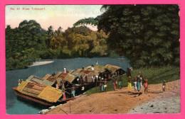 River Transport - Animée - Bâteaux - Pirogues - APOTHECARIES Co Ltd - N° 42 - Colorisée - Sri Lanka (Ceylon)