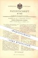 Original Patent - Wanner & Co. In Horgen , Schweiz , 1893 , Mitnehmerscheibe Mit Drehherz , Metall , Metallbearbeitung ! - Documents Historiques